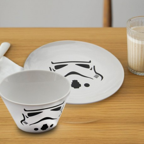 Set Bol et Assiette Stormtrooper Star Wars