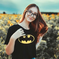 T-shirt Batman Logo Chauve-Souris Coupe Femme