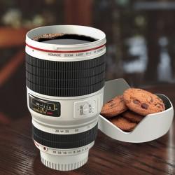 Mug Objectif Appareil Photo Blanc
