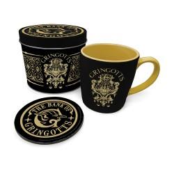 Boîte Cadeau Harry Potter Banque Gringotts avec Mug et Sous-Verre