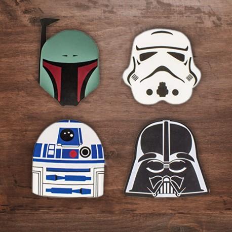 Pack de Quatre Sous-Verres Star Wars en Silicone
