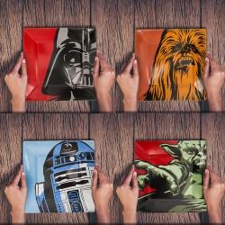 Assiettes Personnages Star Wars en Mélamine - Lot de 4