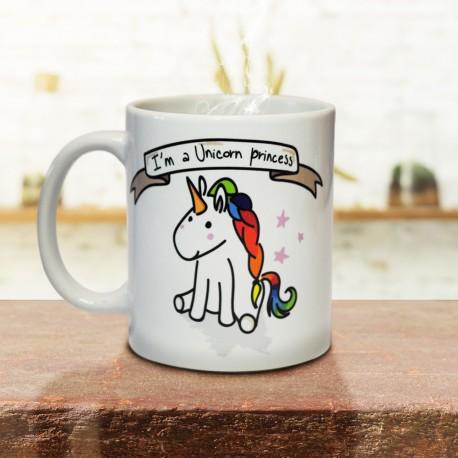 Mug I'm A Unicorn Princess - Modèle Blanc