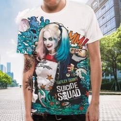 T-shirt Batman Harley Quinn Suicide Squad Graffiti