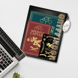 Pack Harry Potter Captain Quidditch - Carnet A4 Feuilles à Trous, Carnet A5 et Stickers