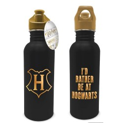 Gourde Métallique Harry Potter Or et Noir - Hogwarts