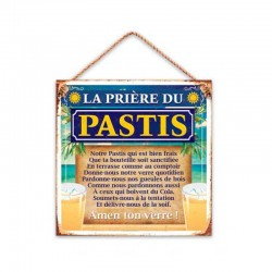 Plaque Métallique La Prière du Pastis