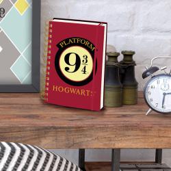 Carnet de Notes Harry Potter à Spirales Poudlard Quai 9 3/4
