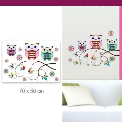 Stickers Chouettes et Fleurs