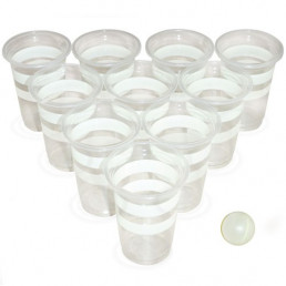 Jeu de Beer Pong Phosphorescent