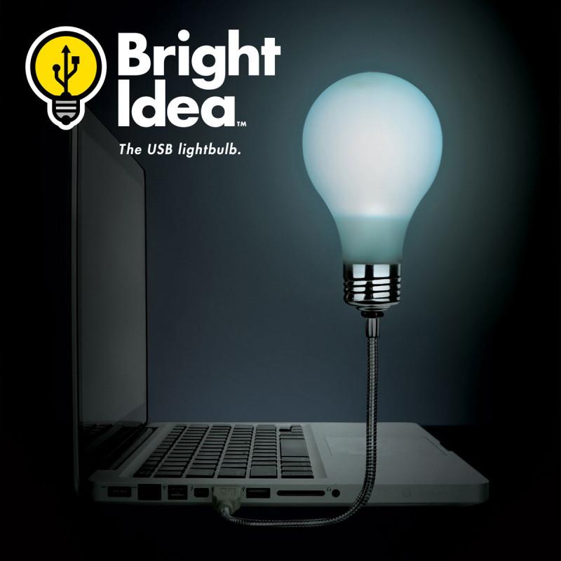 Lampe Usb Ampoule Phosphorescente Gadget D Ordinateur Insolite Sur