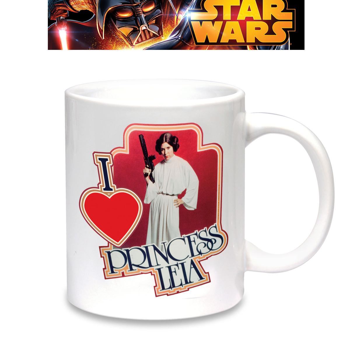 mug star wars i love princesse leia cadeau mug star wars. Black Bedroom Furniture Sets. Home Design Ideas