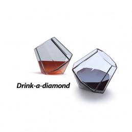 Coffret de Deux Verres Diamants