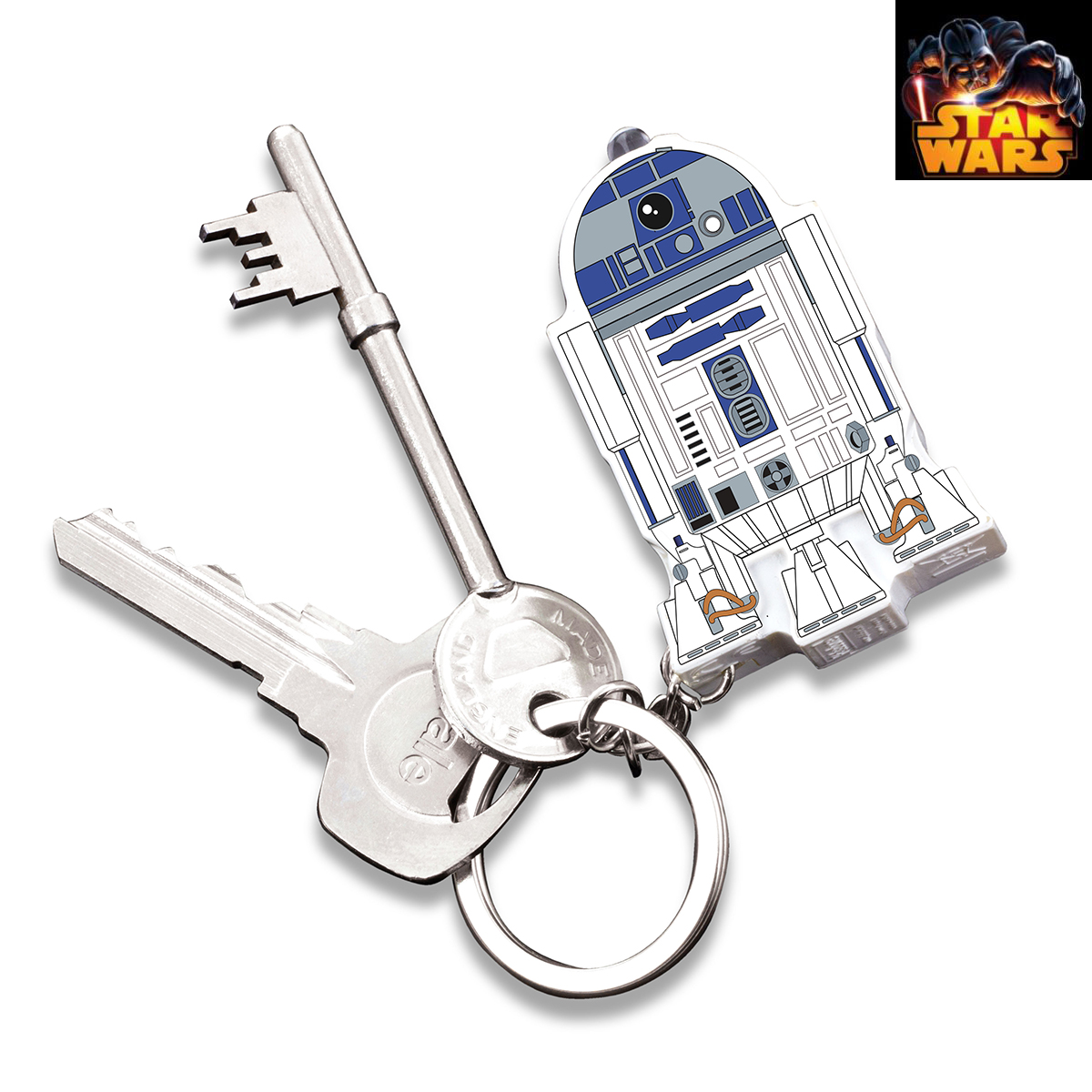 Porte cl s r2d2 star wars sonore et lumineux gadget for Decoration porte star wars