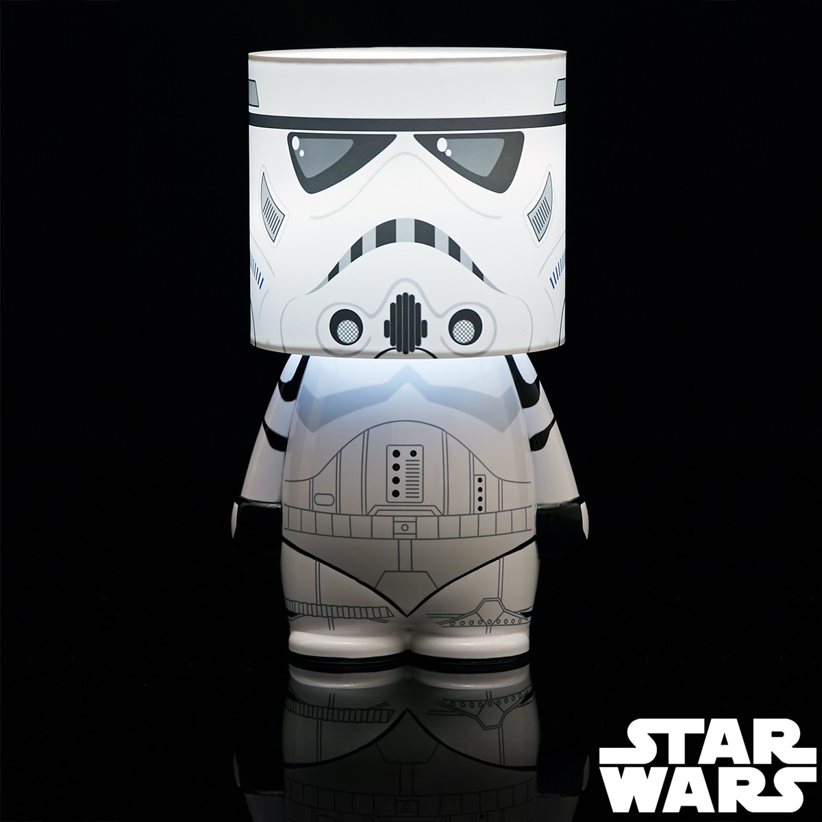 lampe look alite stormtrooper star wars cadeau geek star. Black Bedroom Furniture Sets. Home Design Ideas