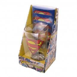 Maxi Verre Superman et Quatre Sous-Verres