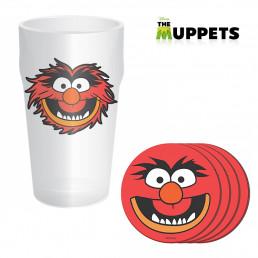 Maxi Verre Muppets et Quatre Sous-Verres