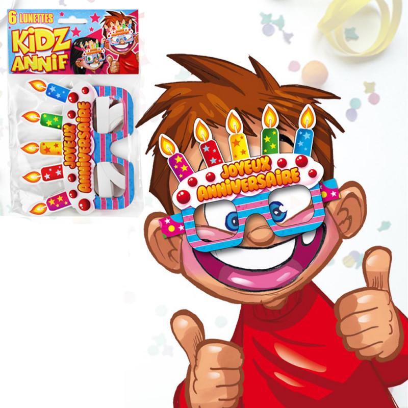 Lot De 6 Lunettes Joyeux Anniversaire Enfants Cadeau Anniversaire