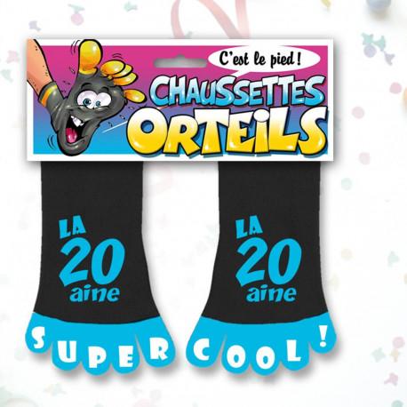 Chaussettes Orteils Anniversaire Noires