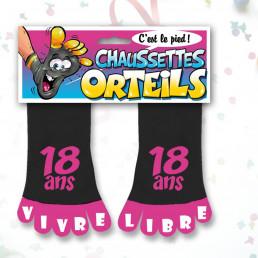 Chaussettes Orteils Anniversaire Roses