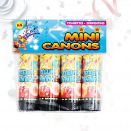 Lot de 4 Mini Canons à Confettis et Serpentins