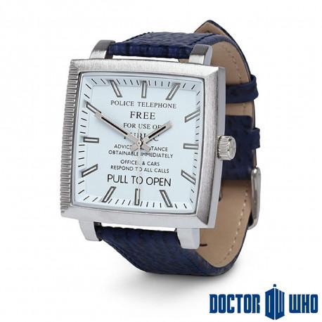 Montre Dr Who Tardis Cadran Carré