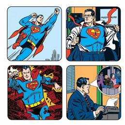 Pack de 4 Sous-Verres Superman
