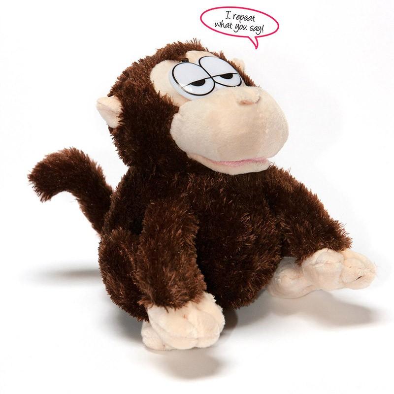 jouet singe qui parle peluche interactive et parlante. Black Bedroom Furniture Sets. Home Design Ideas