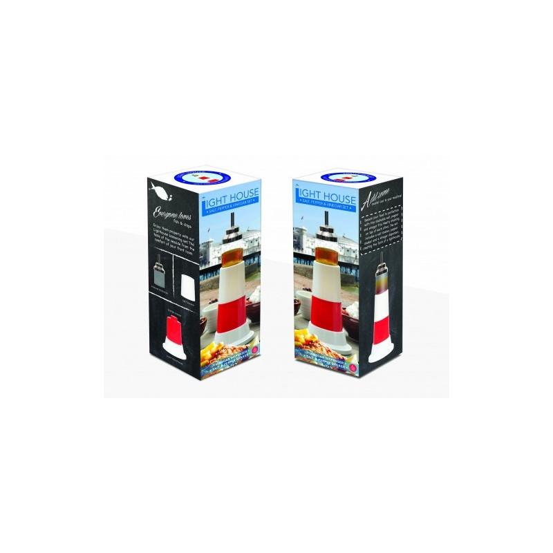 sali re et poivri re design en forme de phare sur cadeaux et anniversaire. Black Bedroom Furniture Sets. Home Design Ideas