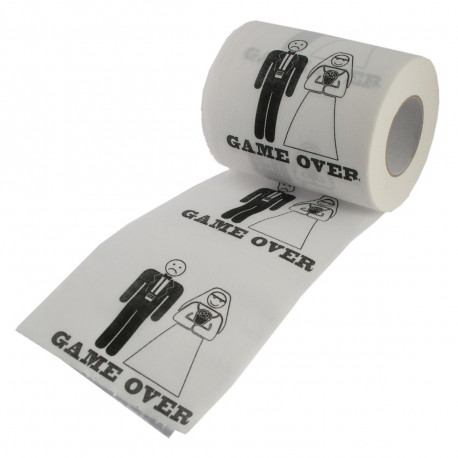 Papier Toilette Mariage Game Over