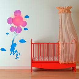Lampe et Stickers Enfant et Ballons
