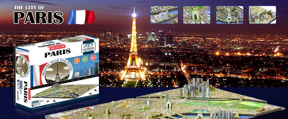 Puzzle 4d paris 1100 pi ces cadeau puzzle ludique et for Piscine ludique paris